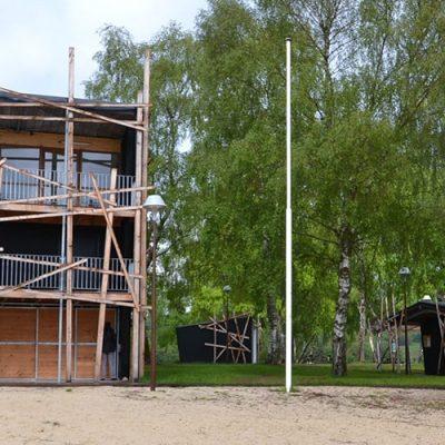Construction d'un poste de secours à Vassivière (87)