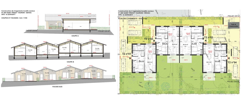 Construction de 4 logements ODHAC à St-Priest-Taurion (87)_2